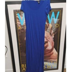 Brand new Breezy royal blue fitted maxi dress!